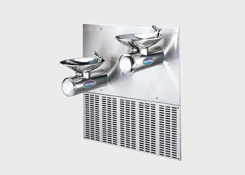 泸县挂墙式2个圆形面盆冷水饮水机